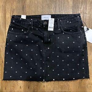 Current Elliott The 5 pocket black mini skirt Nwt